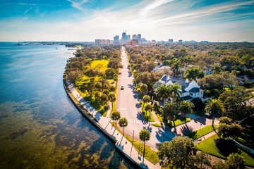 ariel view of st. petersburg florida