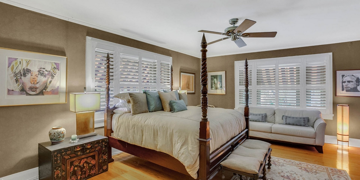 One Of The Dual Master Bedrooms In Historic South Tampa Estate Home For