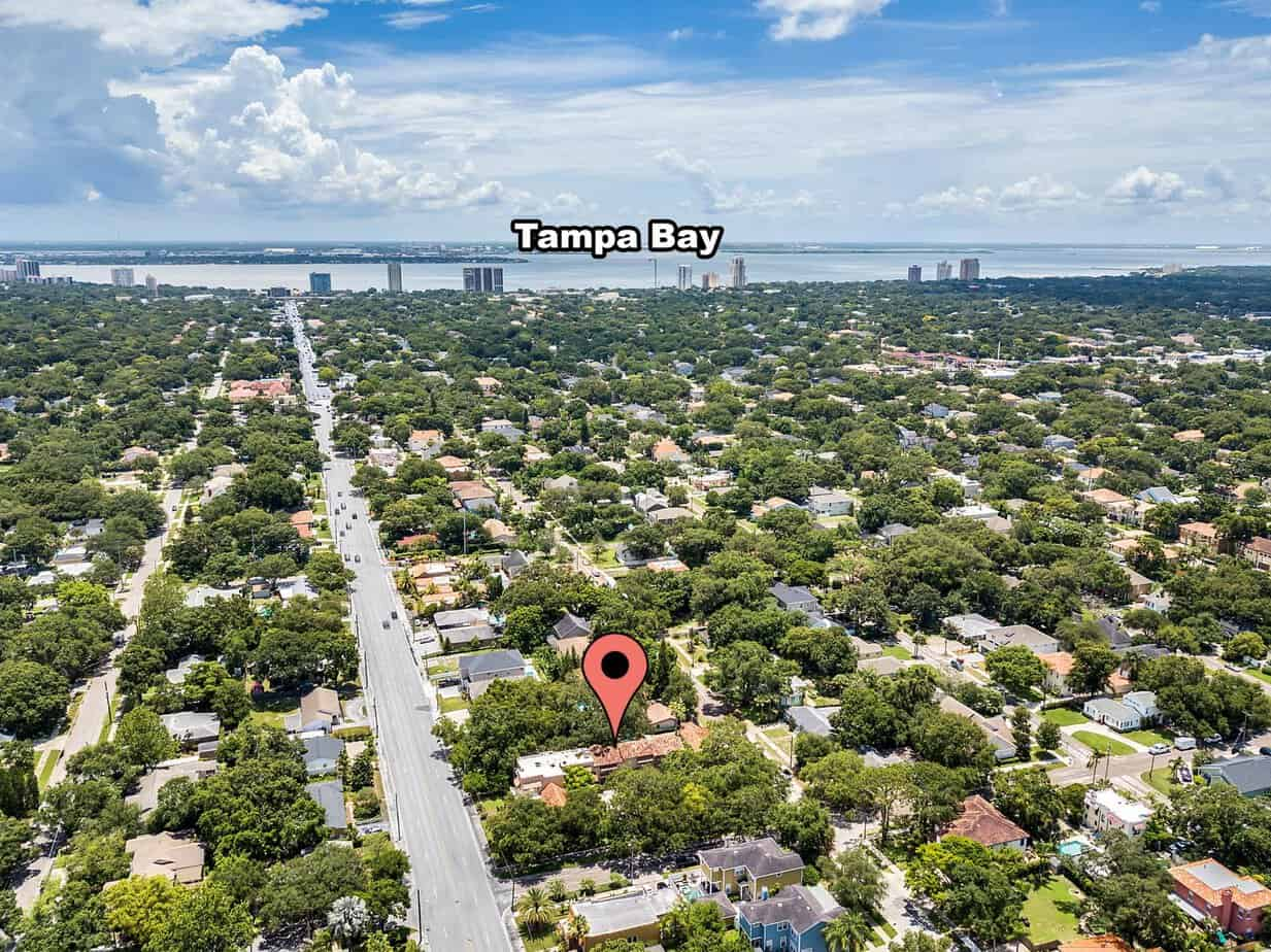 Ariel View Showing South Tampa