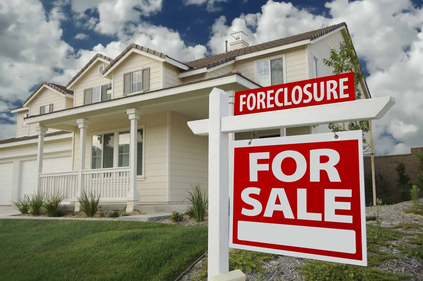 Foreclosure Home For Sale Sign in Front of New House for the main image of Hillsborough County Foreclosure Search