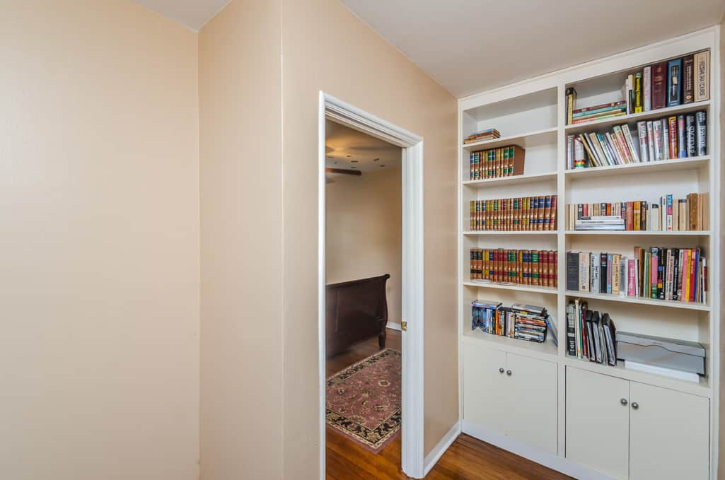 Built In Shelf In Hallway