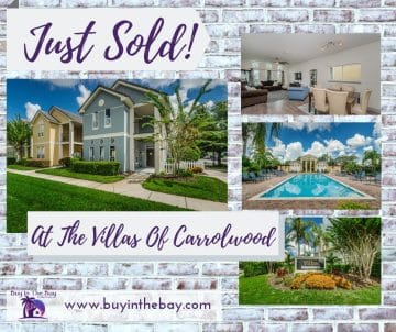 Main Image Of 4002 Carrolwood Palm Court Tampa Page showing gfront of home and community amenities of pool at The Villas Of Carrollwood