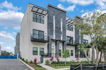 Image of 4810 W McElroy #31 Tampa FL 33611 a 3 story townhome at the Westshore Marina District